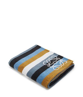 LOEWE 105X170 Towel Stripes Chocolate Brown/Brown front