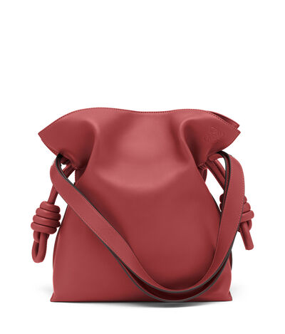 LOEWE Flamenco Knot Bag Brick Red front