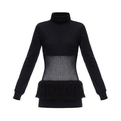 LOEWE メッシュウエストセーター ブラック front