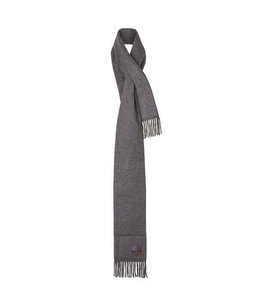 LOEWE 17X190 Padded Scarf Anagram 麻灰色 front
