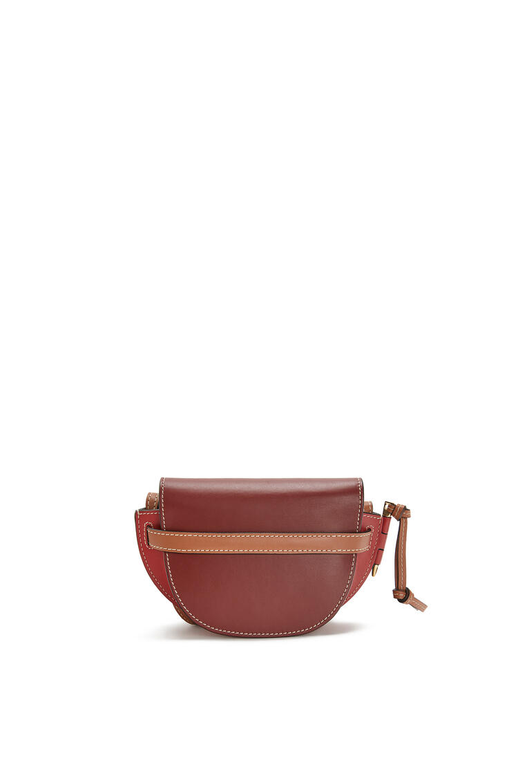 LOEWE Mini Gate bag in soft calfskin Garnet/Pomodoro pdp_rd