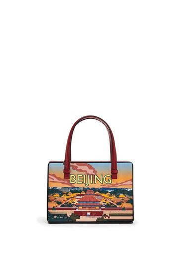 LOEWE Small Postal Bag In Natural Calfskin Multicolor pdp_rd