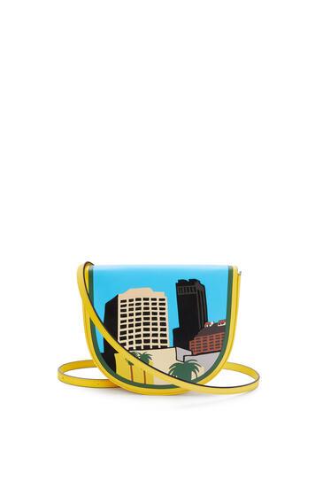LOEWE 洛杉矶 系列柔软牛皮革 Heel 手袋 Yellow/Multicolour pdp_rd