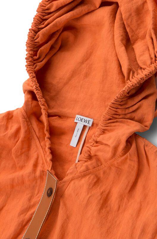 LOEWE Drawstring Dress Orange front