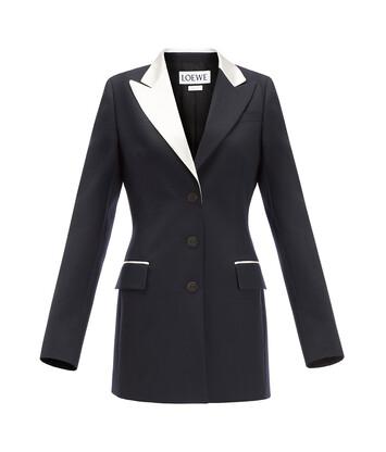 LOEWE Tuxedo Jacket Navy Blue front