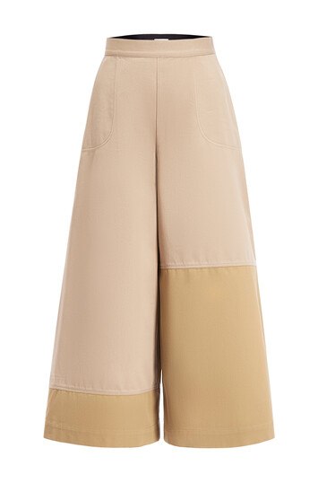 LOEWE Safari Culotte Trousers Beige/Negro front