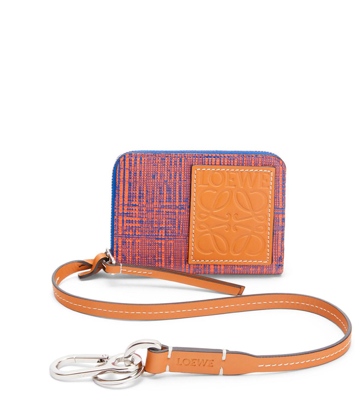 LOEWE Strap 6 Cards Wallet Electric Blue/Orange front