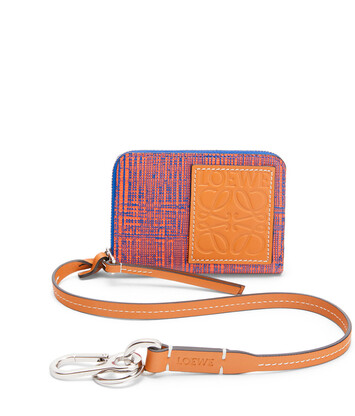 LOEWE ストラップ 6 カード ウォレット Electric Blue/Orange front