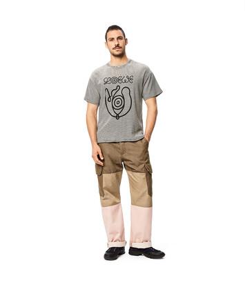LOEWE Eln Stripe Cropped T-Shirt Black/White front