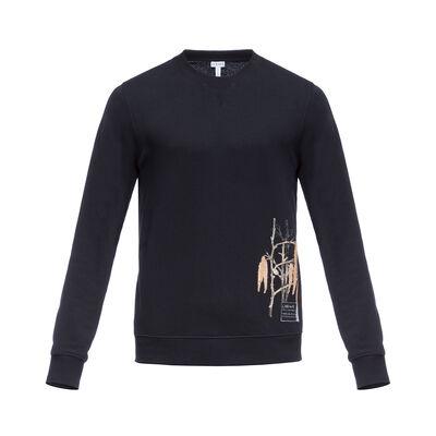 LOEWE Sweatshirt Botanical 黑色 front