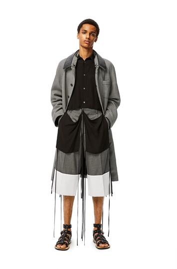 LOEWE Tie Cut Panel Shirt 黑色 front