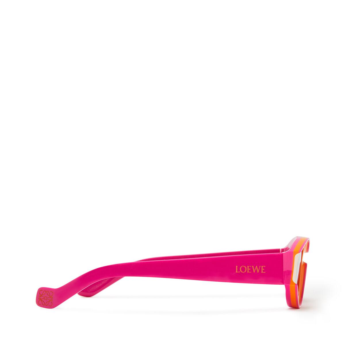 LOEWE Gafas De Sol Pequeñas Paula's Ibiza De Acetato Naranja Neon/Rosa Neon front