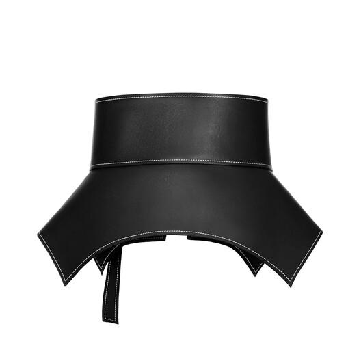 LOEWE Cinturón Obi Negro front