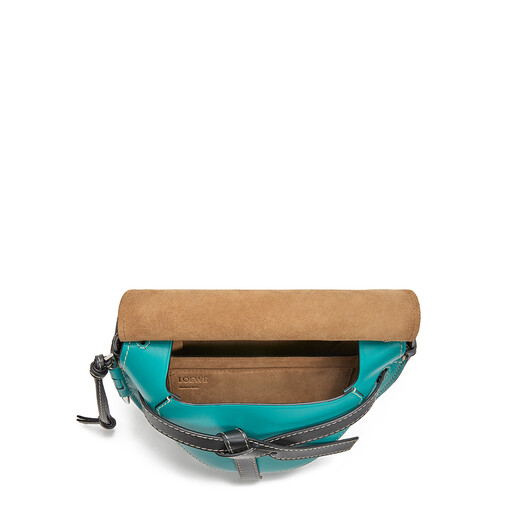 LOEWE Gate Small Bag Dark Lagoon/Emerald front