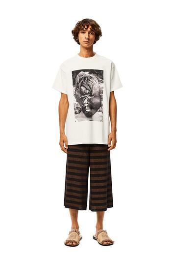 LOEWE Stripe Rib Knit Shorts Brown/Black front