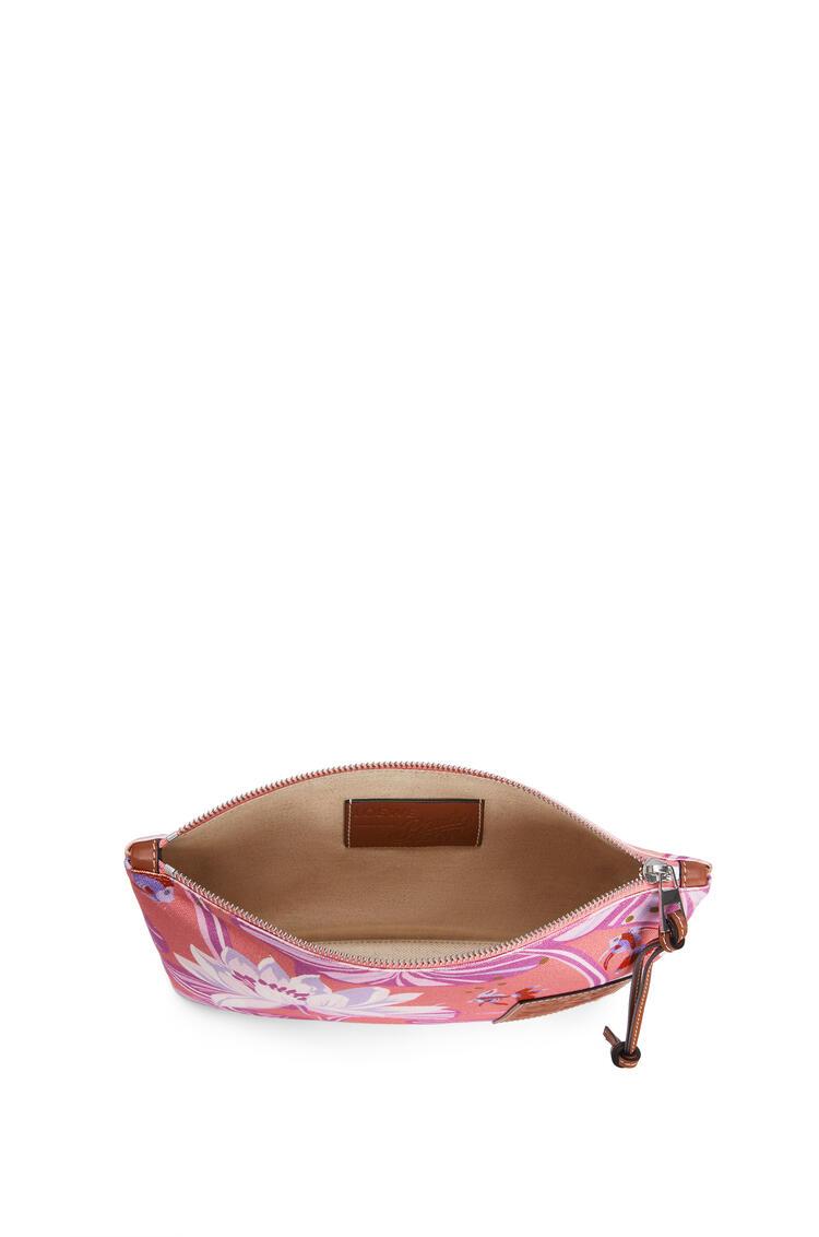 LOEWE オブロング ポーチ (ウォーターリリー キャンバス) Salmon/Pink pdp_rd