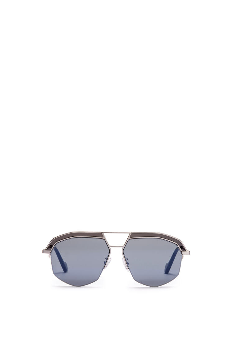 LOEWE GEOMETRICAL SUNGLASSES Mate Rhodium/Grey pdp_rd
