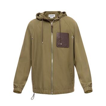 LOEWE Zip Hood Jacket Khaki Green front