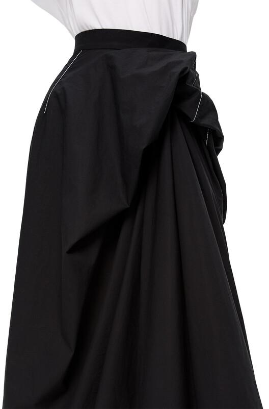 LOEWE Gathered Skirt Black front