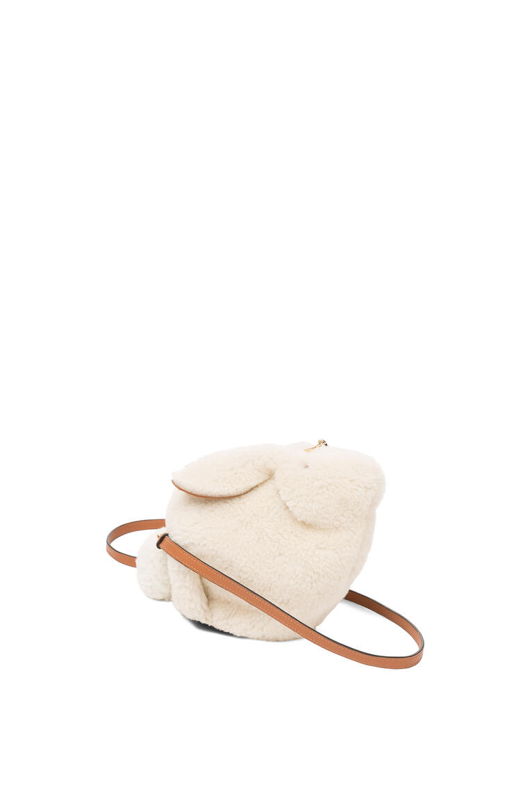 LOEWE Mini Bunny bag in shearling Natural pdp_rd