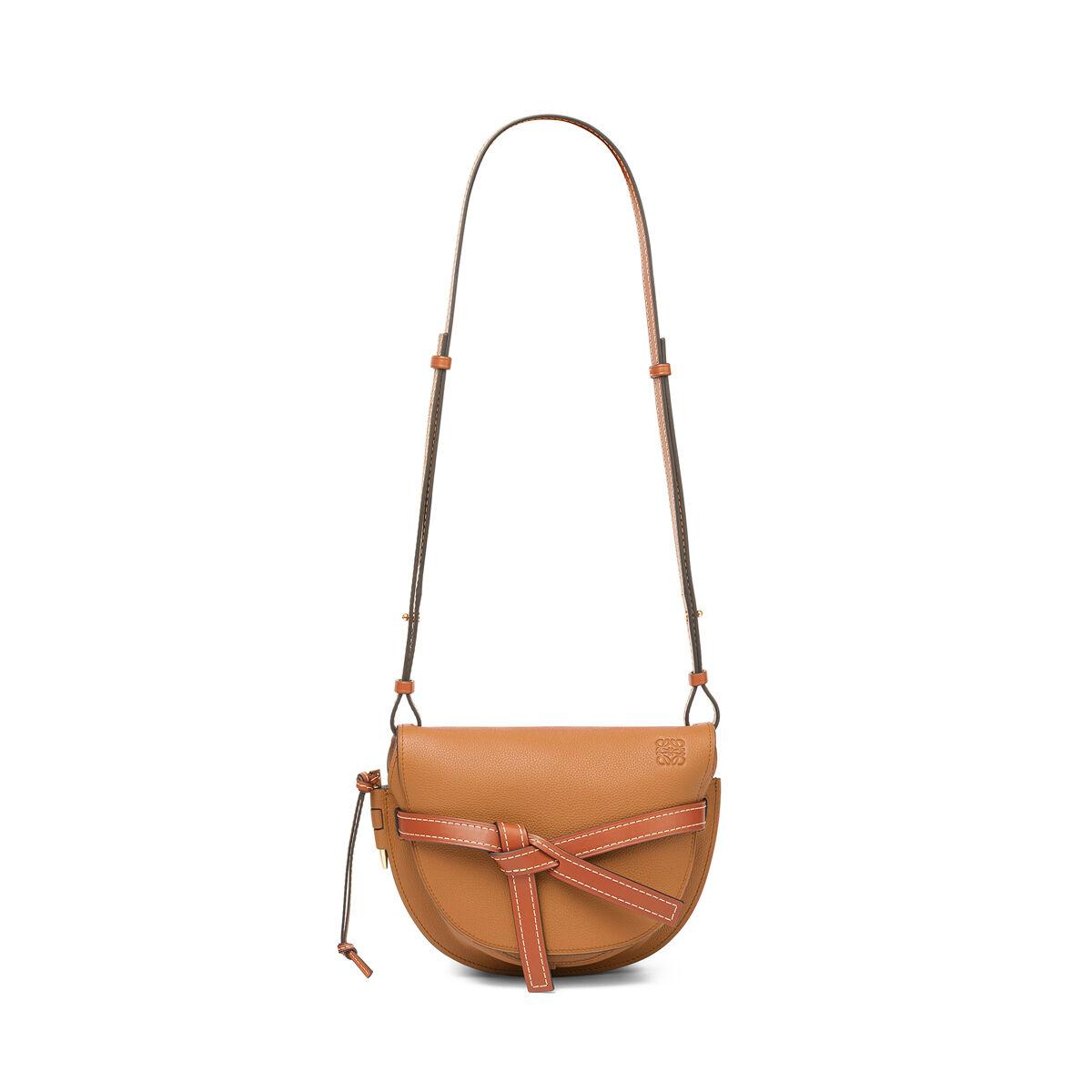 LOEWE Gate Small Bag Light Caramel/Pecan Color  all