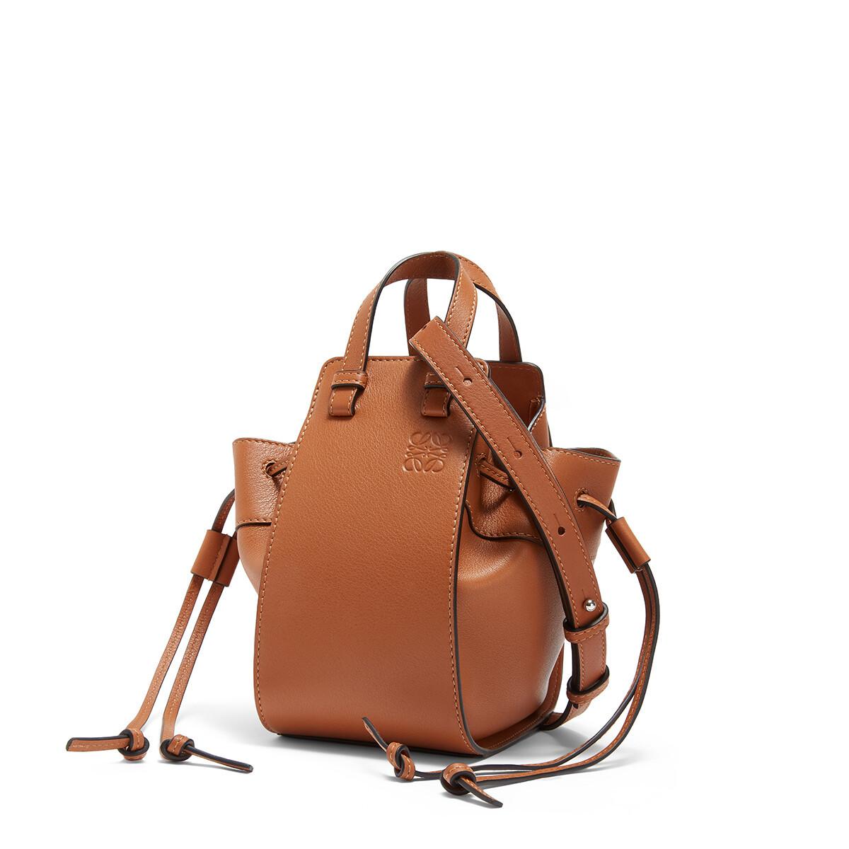 LOEWE Hammock Drawstring Mini Bag 棕色 front