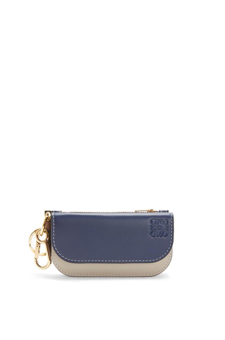 LOEWE Mini Gate Wallet In Smooth Calfskin Marine/Light Oat pdp_rd