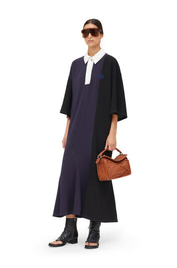 LOEWE Poloneck Dress Black/Dark Navy front