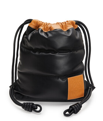LOEWE Yago Puffy Backpack Black front