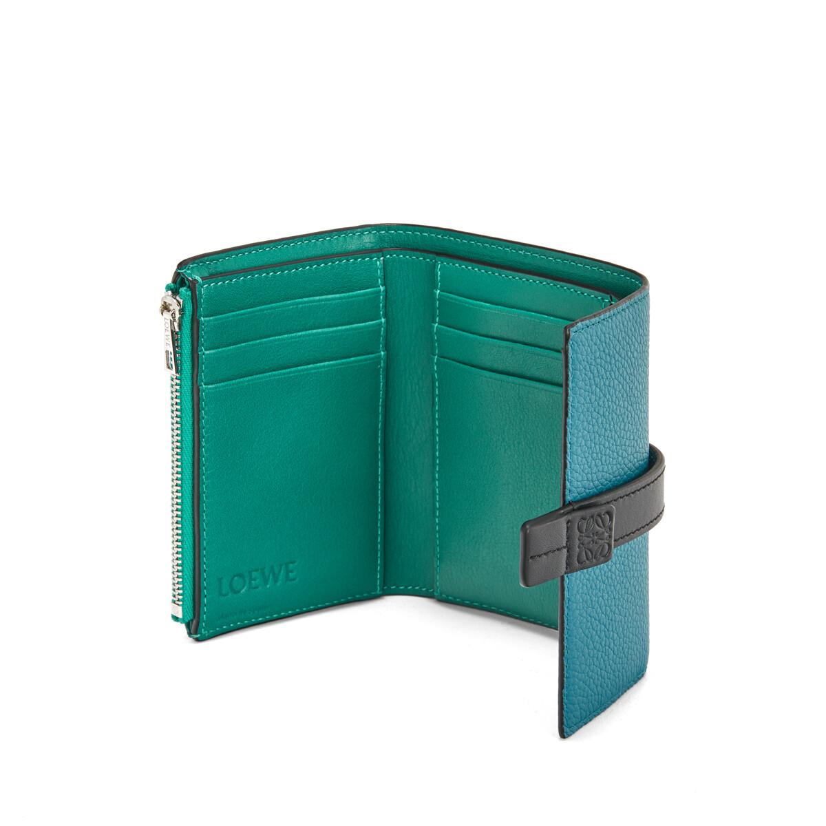 LOEWE Small Vertical Wallet Dark Lagoon front