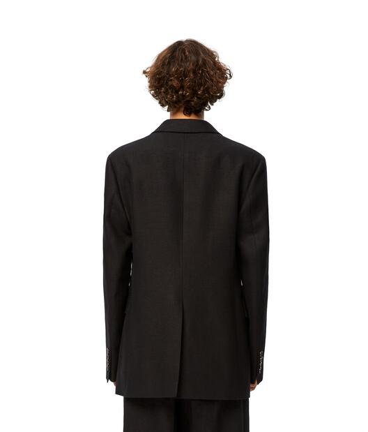 LOEWE 3Bt Jacket ブラック front