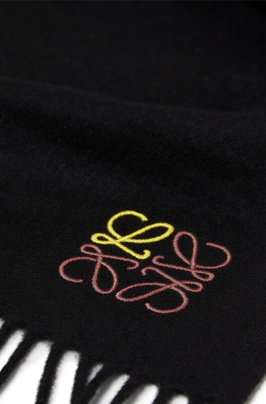 LOEWE 70X200 Anagram Scarf 黑色 front