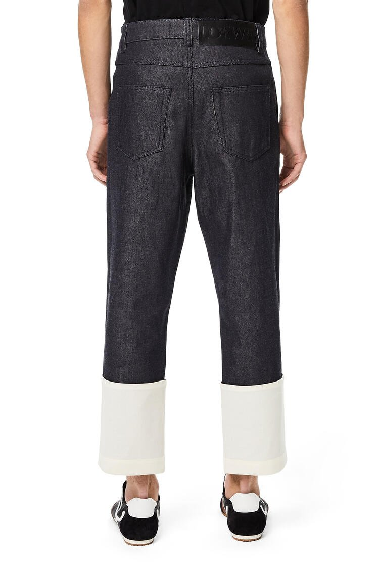 LOEWE Fisherman jeans in denim Navy Blue pdp_rd