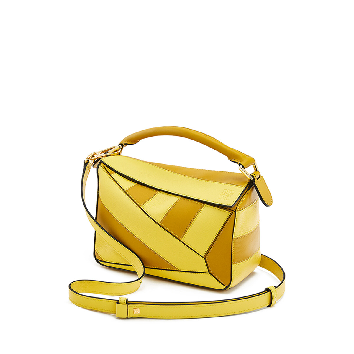 LOEWE Puzzle Rugby Small Bag Ochre/Yellow front