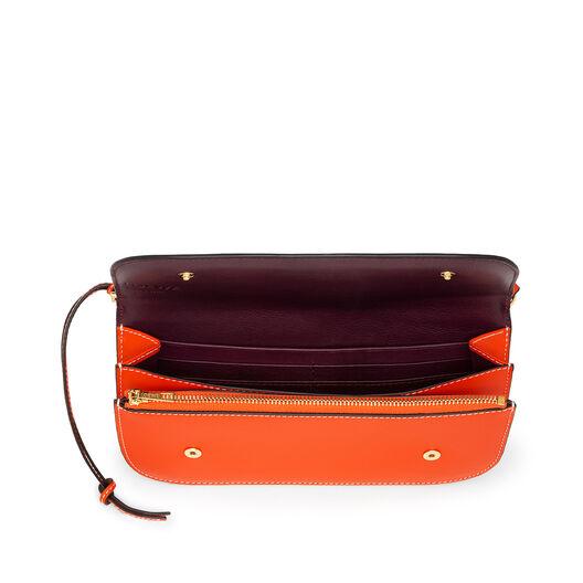 LOEWE Gate Pochette Orange/Oxblood all