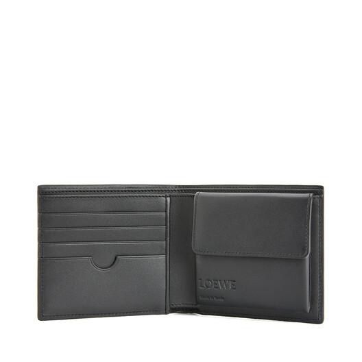 LOEWE Brand Bifold Coin Wallet Indigo front