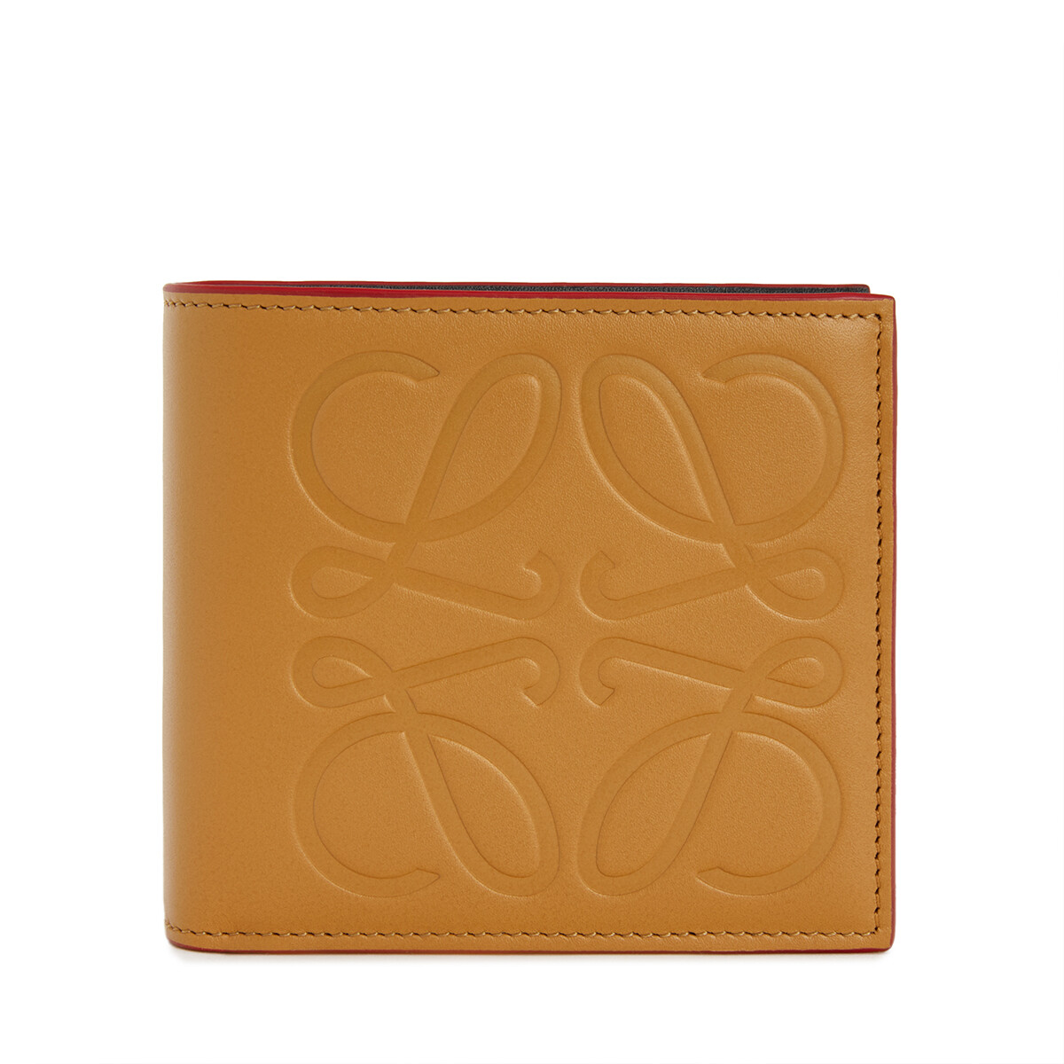 LOEWE Brand Bifold Coin Wallet Honey front