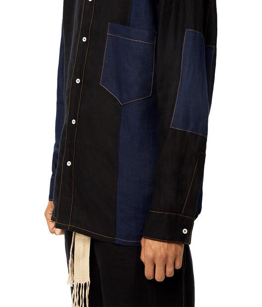 LOEWE Patch Pocket Shirt Navy Blue/Black front
