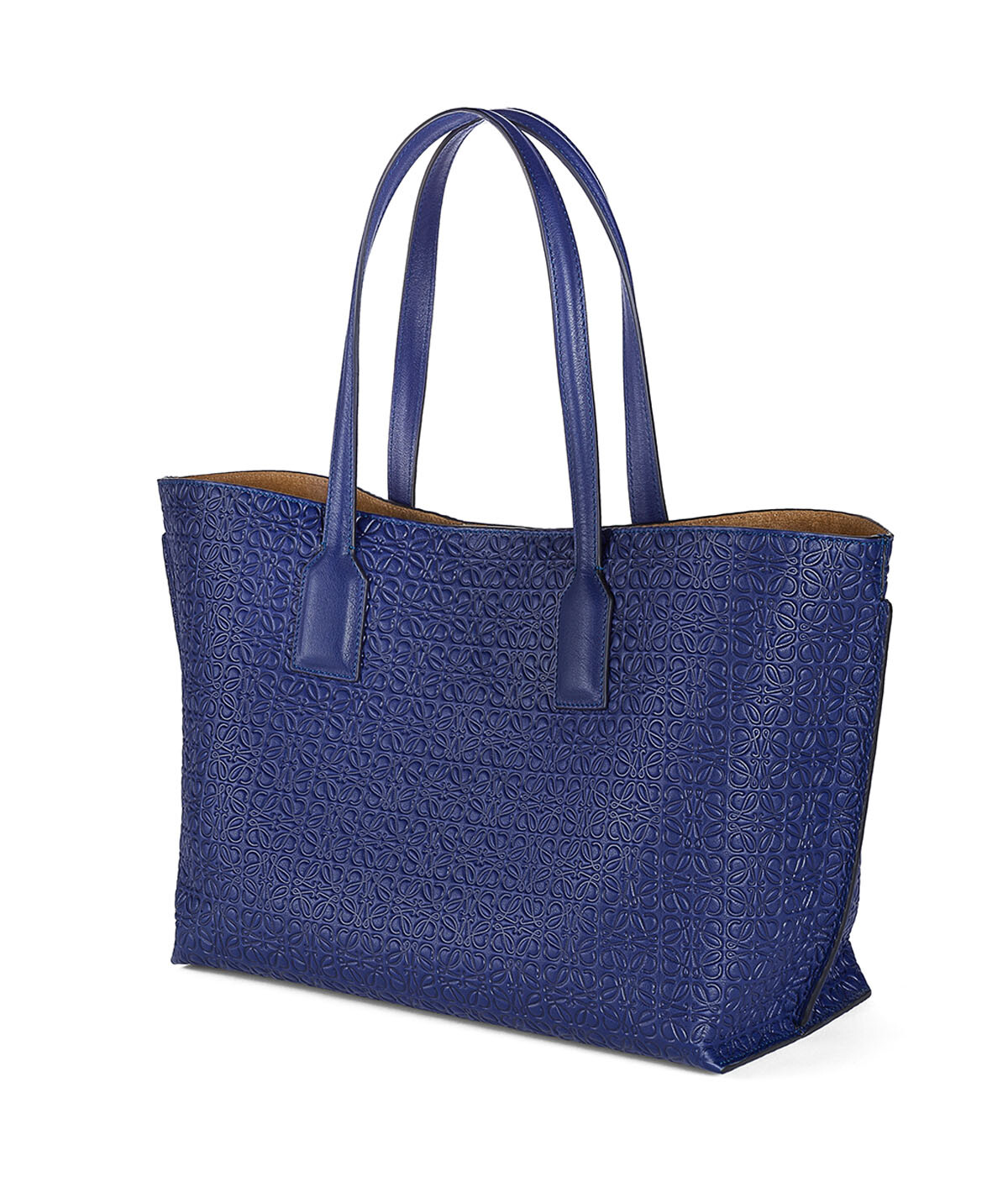 LOEWE T Shopper Bag Navy Blue front