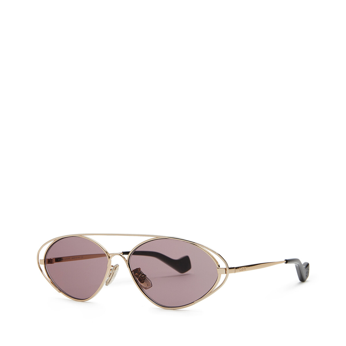 LOEWE Metal Oval Sunglasses Antique Rose front