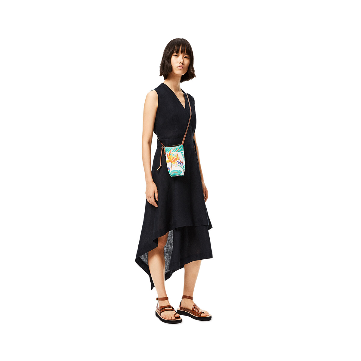 LOEWE Gate Pocket In Waterlily Classic Calfskin 白 front