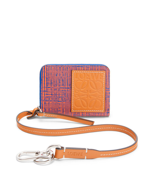 LOEWE Strap 6 Cards Wallet Electric Blue/Orange front