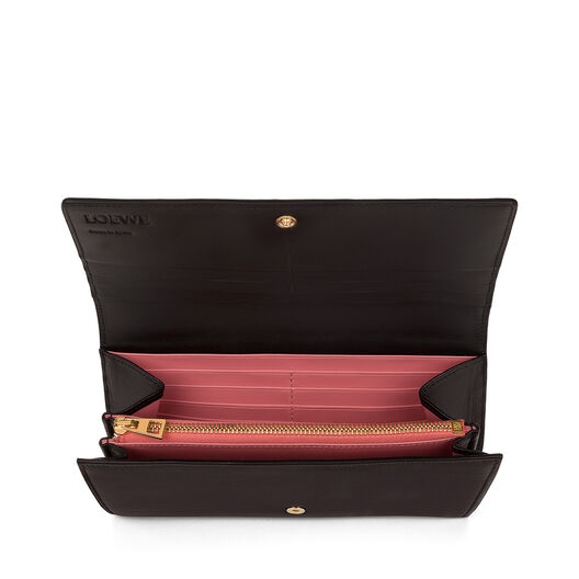 LOEWE Continental Wallet Black/Candy all