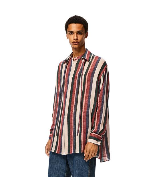 LOEWE Detachable Collar Stripe Shirt Pink/Strawberry/Blue front