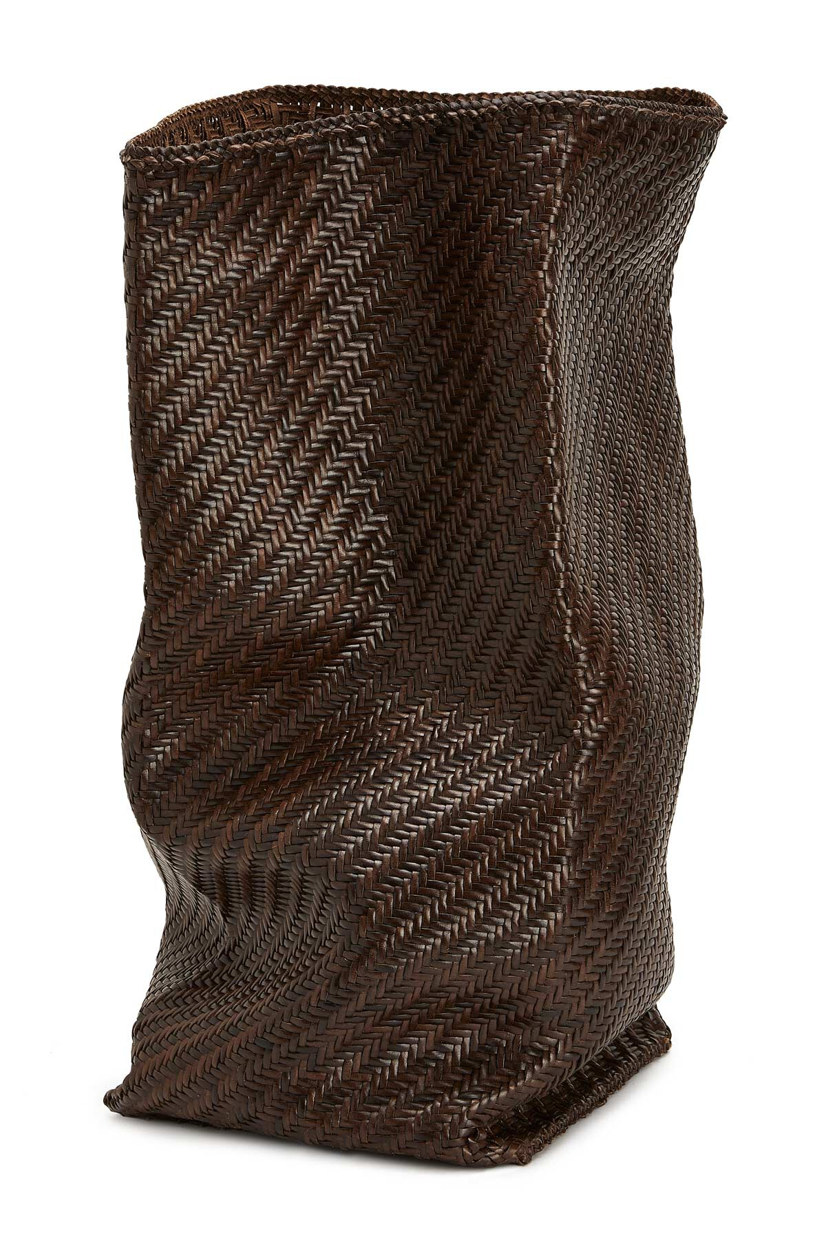 LOEWE 柔软廓型编织手袋 栗棕色 front