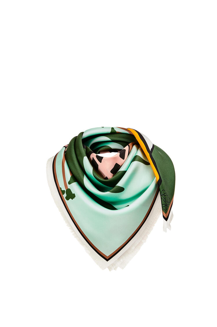 LOEWE L.A. Series scarf in silk Multicolor/White pdp_rd