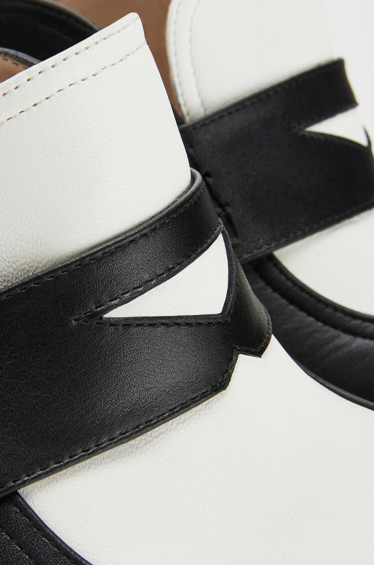 LOEWE Loafer in calfskin Black/White pdp_rd