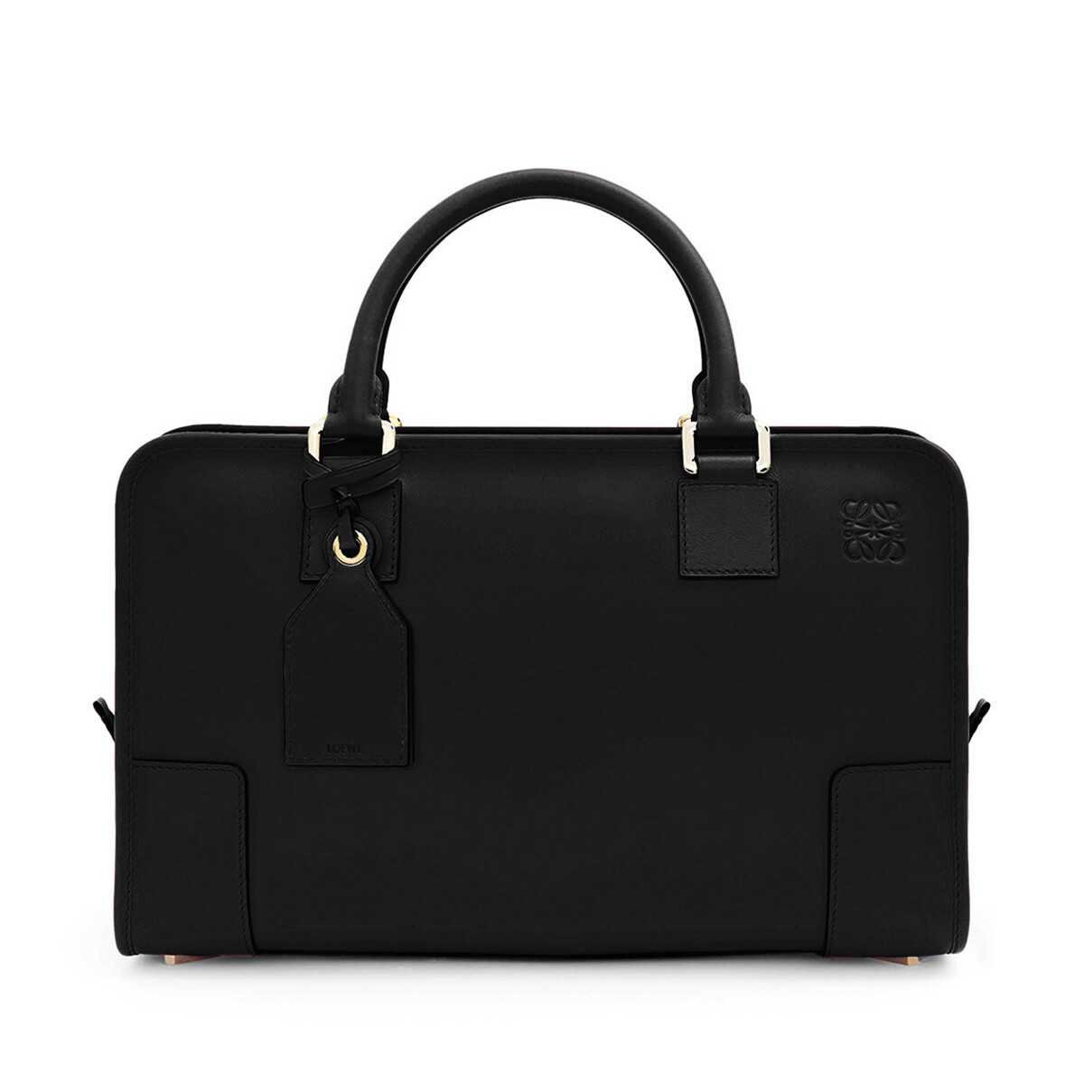 LOEWE Amazona Bag Black/Gold front