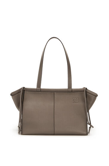 LOEWE Small Cushion Tote bag in soft grained calfskin Dark Taupe pdp_rd