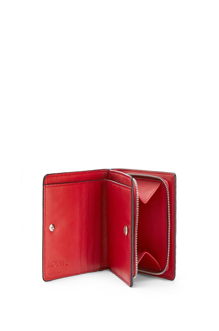 LOEWE Compact zip wallet in calfskin Pomodoro pdp_rd